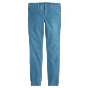 NEW J. Crew Toothpick Corduroy Ankle Pants Blue